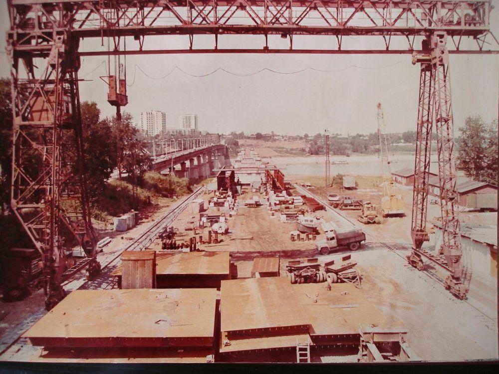 Строительство второго моста через Белую. Конец 80-х годов.