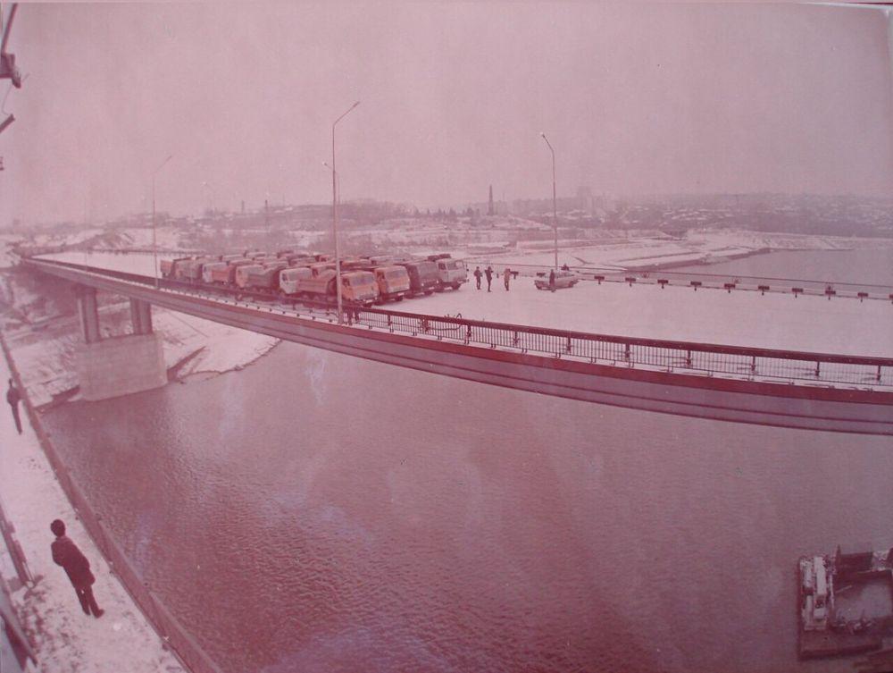Тестирование второго моста. 1992 год.