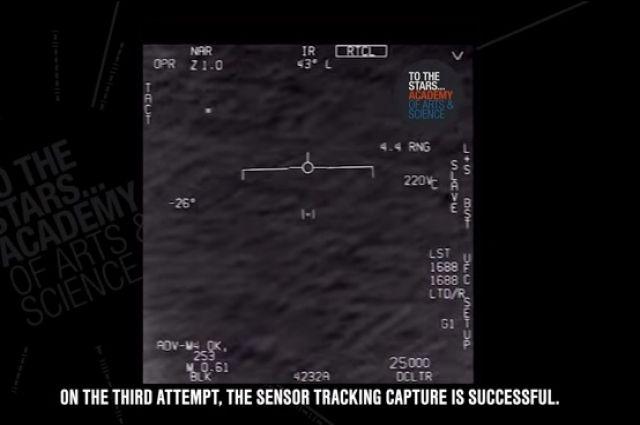 Винтернете появилось очередное видео перехвата НЛО самолетом ВВС США