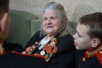 Софья Кузнецова с кадетами