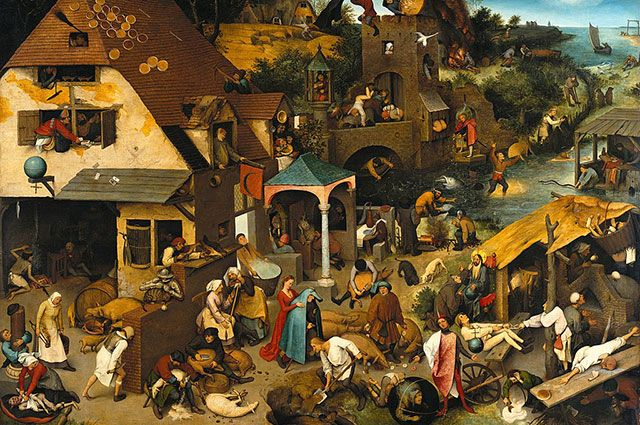 «Фламандские пословицы», Питер Брейгель Старший, 1559 г.