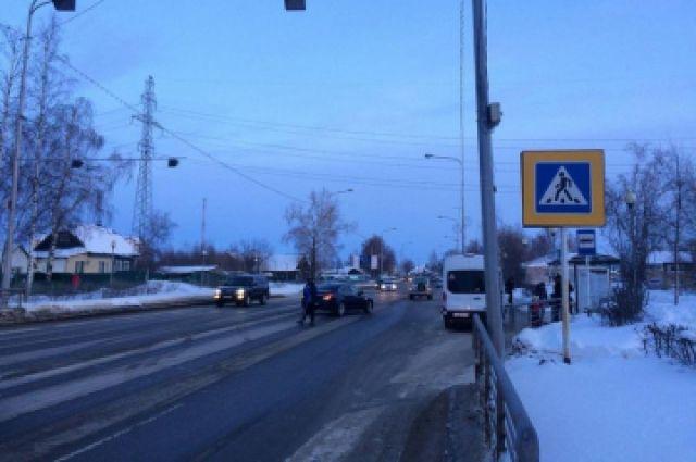 ДТП произошло на пешеходном переходе