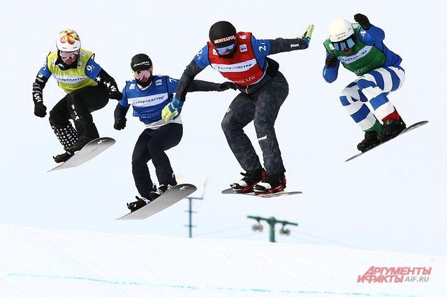 Сноуборд-кросс - это красиво и эффектно.