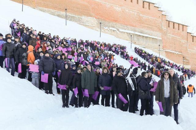 Нижегородский флешмоб к 8 марта попал в «Книгу рекордов России».