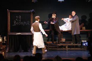 В пространстве пьесы удивительным образом сталкиваются три знаковые фигуры русской литературы.