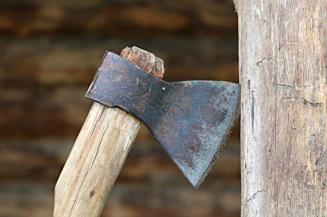 Геодезический знак решили срубить на дрова.