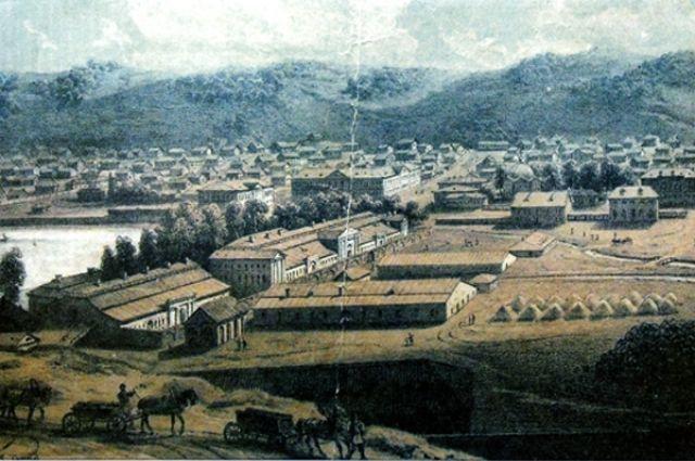 Сереброплавильный завод в Барнауле.