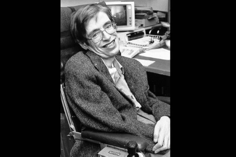 Стивен Хокинг в НАСА, 1980-е годы.