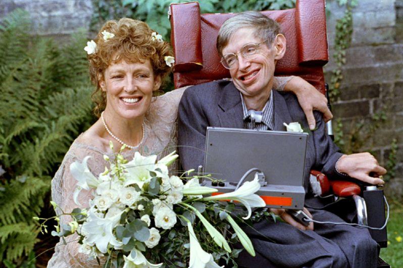 Стивен Хокинг и его вторая жена Элейн Мейсон. 16 сентября 1995 года.