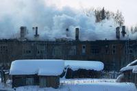 Утром 23 февраля деревянный дом сгорел.