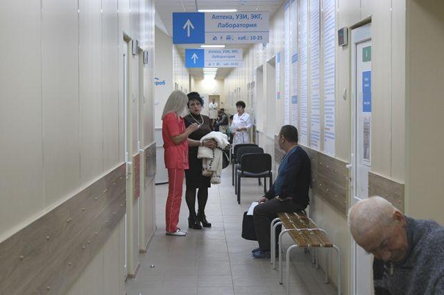 В поликлинике появились регистратуры открытого типа – для взрослых и детей, навигация.