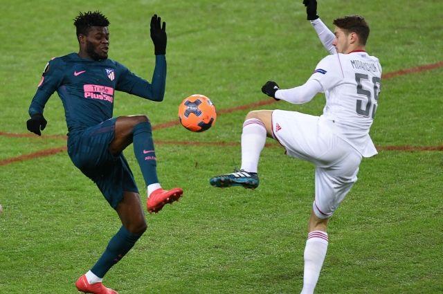 «Локомотив» вновь проиграл «Атлетико» и вылетел из Лиги Европы