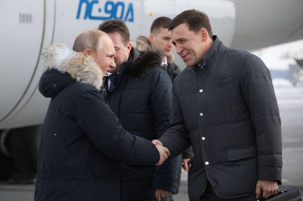 Встреча Владимира Путина в аэропорту Кольцово. 6 марта 2018 года