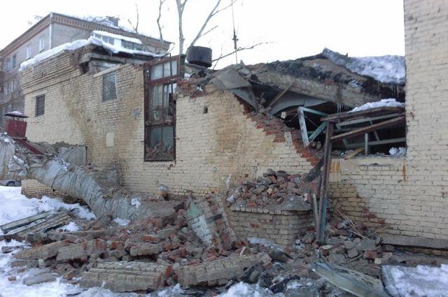 ВКазани водной изкотельных частично обрушились стена икровля