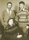 Рудольф Нуриев в 1992 году с директором Татарского оперного театра Рауфалем Мухаметзяновым. После этого визита театр официально получил разрешение танцовщика проводить балетный фестиваль его имени.