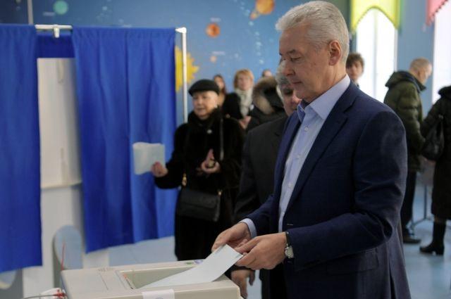 Собянин проголосовал навыборах президента Российской Федерации