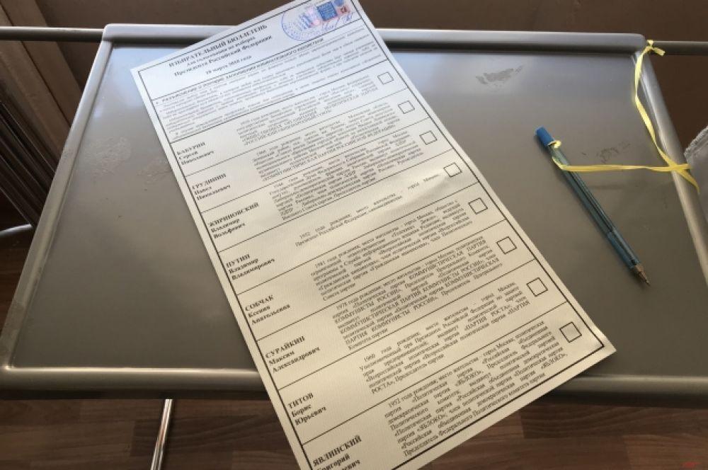 Вот так выглядит бюллетень для голосования.