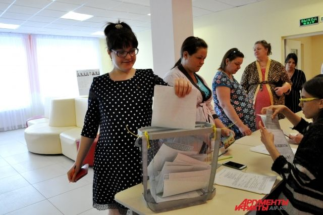Голосование в Оренбургском перинатальном центре.