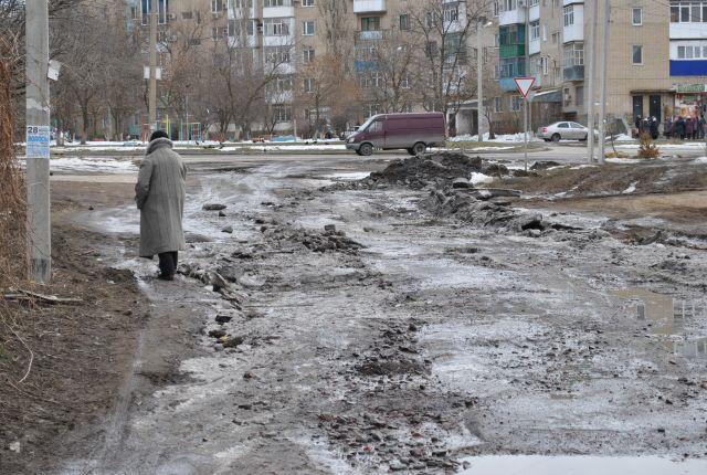 Дороги в городе Шахты похожи на минное поле.