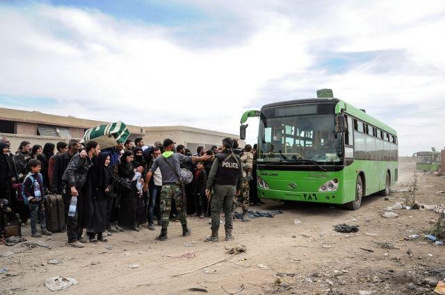 Свыше 3,5 тысяч человек смогли покинуть Восточную Гуту в понедельник
