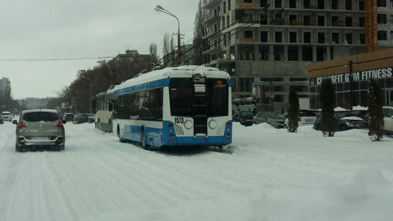 Около 9 утра, по мере освобождения троллейбусного депо из снежного плена, по городу начали курсировать первые троллейбусы. Но власти города объявили каникулы для школьников и выходной для всех остальных.