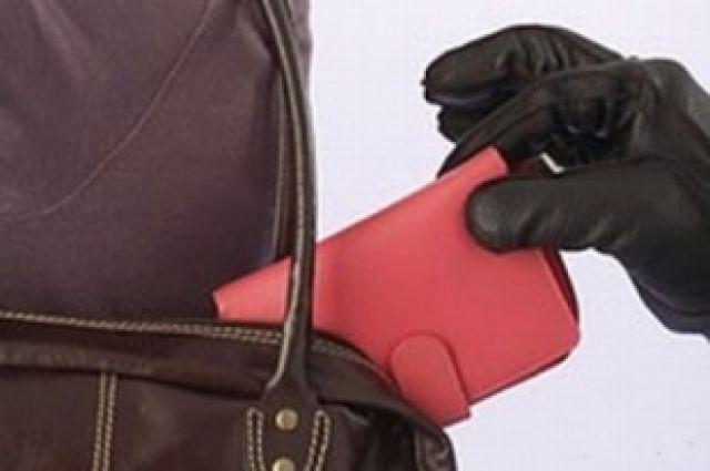 Неизвестная дама вытащила кошелек