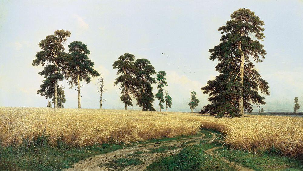 В 1878-м году картина «Рожь» экспонировалась на VI передвижной выставке. Тему для этой картины Шишкин нашёл на родине, во время поездки в Елабугу, совершённой в 1877 году вместе с дочерью. Мимо этого шедевра Павел Третьяков не мог пройти мимо и приобрел ее для своей коллекции.