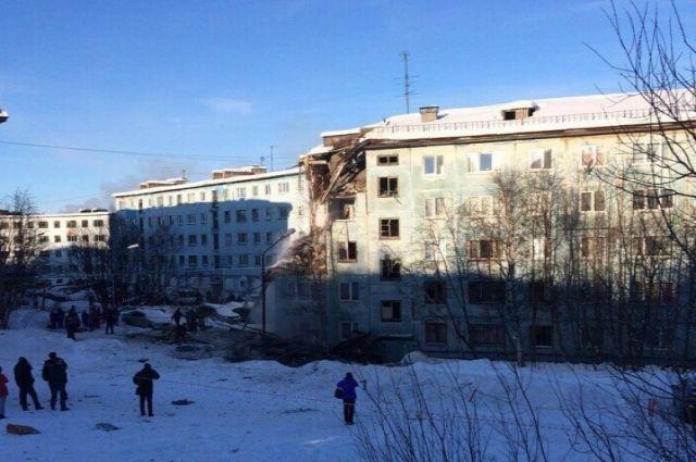 Взрыв газа вМурманске: разбор завалов вдоме наСвердлова завершен
