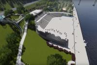 Большой амфитеатр, где зимой и летом будут проводиться различные мероприятия.