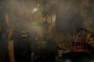 Выгорела часть строения.