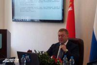 Александр Ярошук после объявления об отставке.