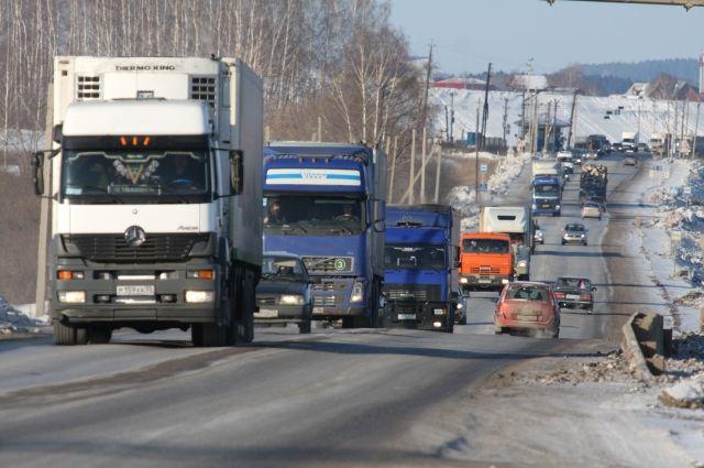 Для грузовиков вводятся ограничения.