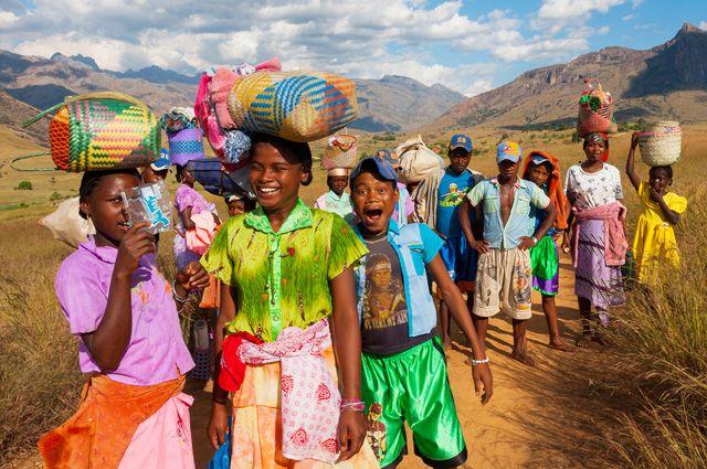 Жители острова Мадагаскар.