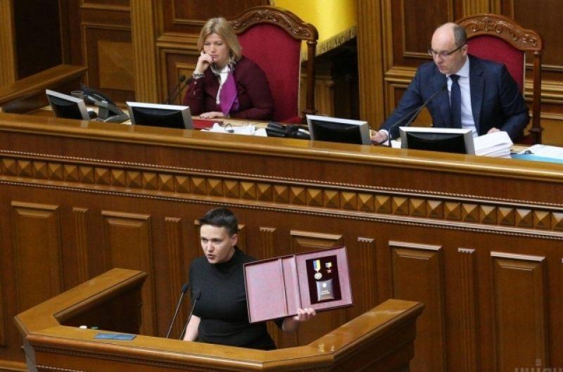 Свое выступление на трибуне Верховной Рады Надежда Савченко начала фразой