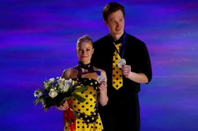 Фигуристы Тарасова иМорозов завоевали серебро чемпионата мира вМилане