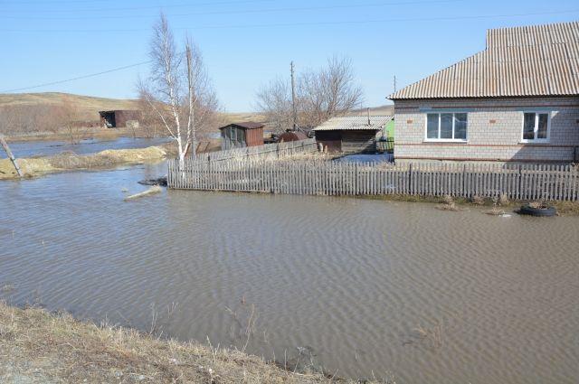Река Таловочка подтопляет участки.