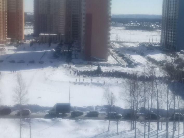 Масштаб схода был виден даже из окон соседнего микрорайона