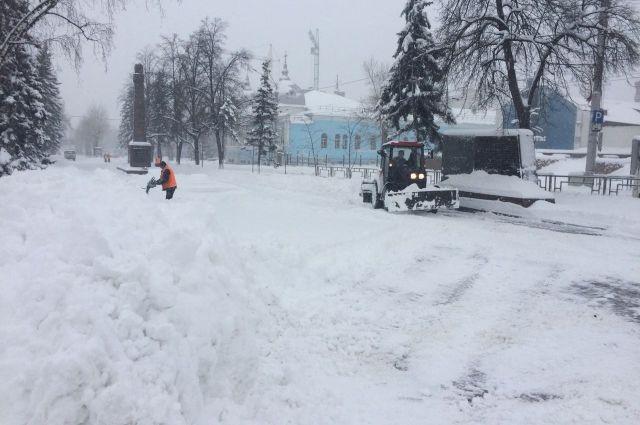 Снегопад в Барнауле
