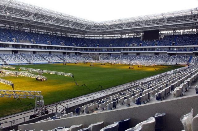Стадион в Калининграде вмещает 35 тысяч болельщиков.