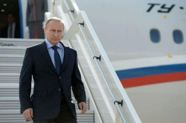 Владимир Путин прибыл в Кемерово.