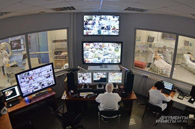 Учебный центр Первого МГМУ им. Сеченова выглядит как космический центр управления полётами.