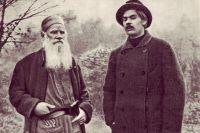 Максим Горький и Лев Толстой.