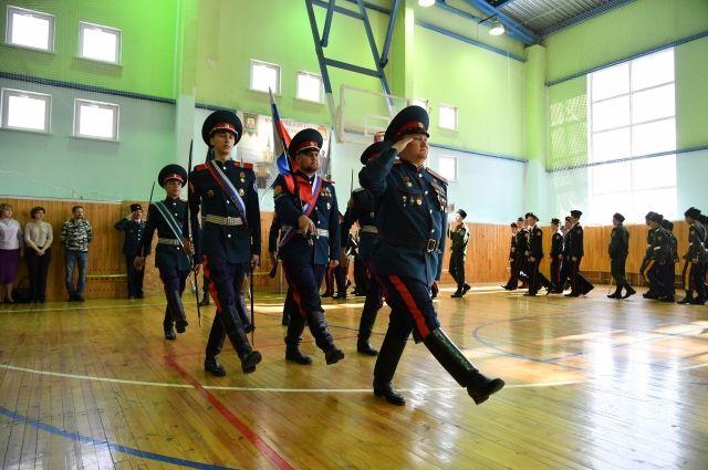 В Омск приехали кадеты со всей Сибири.