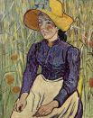 Картина «Молодая крестьянка в соломенной шляпе в пшенице» была продана в 1997 году за 47,5 млн в частную коллекцию Стивена Уинна. В 2005 году стало известно, что владелец перепродал ее вместе с «Купальщицами» Гогена Стивену Коэну за более чем 100 млн долларов.