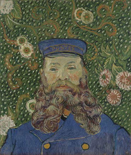 «Портрет почтальона Жозефа Рулена» представляет собой одну из серии картин Ван Гога выполненных в Арле в 1888-1889 годах. Художник часто рисовал как самого почтальона, в доме у которого часто бывал, так и его жену Августину и их троих детей. Полотно в 1989 году купил Музей современного искусства Нью-Йорка за 58 млн долларов.