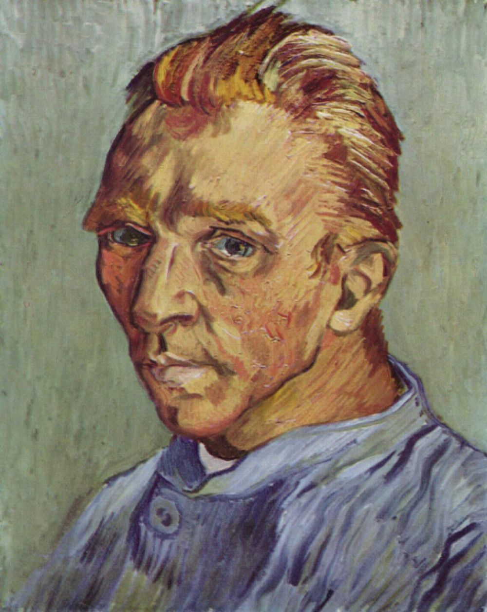 «Портрет художника без бороды». Ван Гог написал великое множество автопортретов, но этот — единственный, где художник гладко выбрит. В 1998 году картина была продана на аукционе Christie's за 71,5 млн долларов.