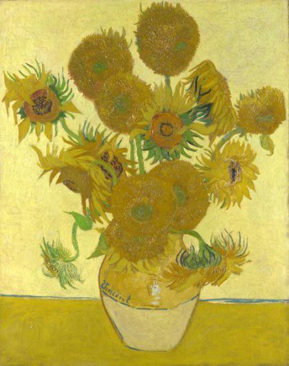 «Подсолнухи». Существует целых девять картин Ван Гога с таким названием. Первая серия из этого цикла выполнена в Париже в 1887 году и посвящена лежащим цветам, а вторая создана через год в Арле — там подсолнухи уже стоят в вазе. Две парижских картины приобрел у художника еще при жизни Поль Гоген, а картину из арльского цикла в 1987 году купила компания «Ясуда» за 73,8 млн долларов.