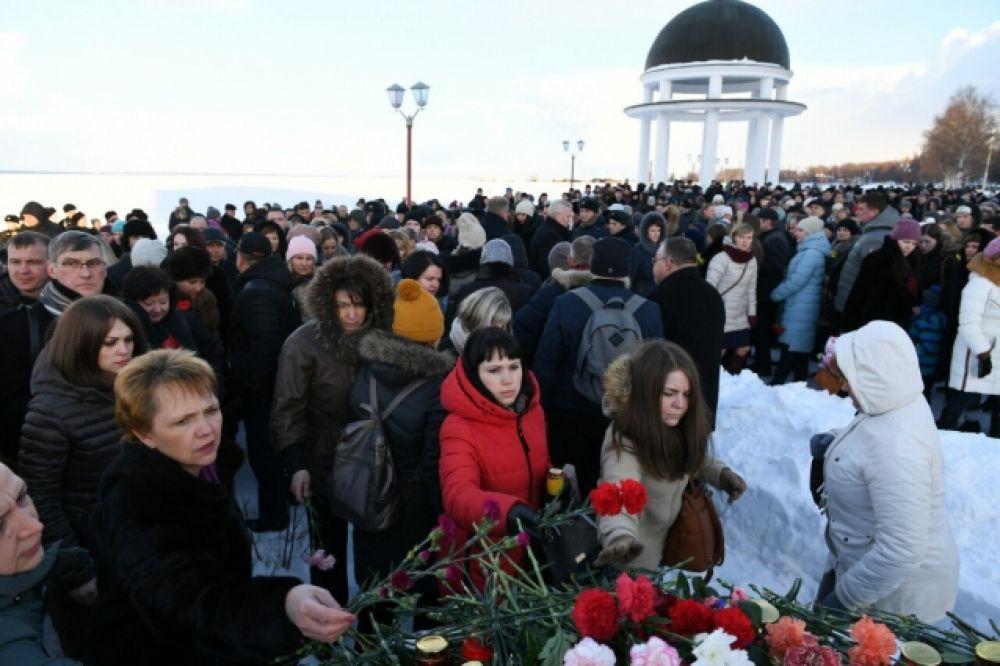 В Петрозаводске прошла траурная акция.