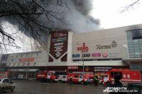 Пожар в ТРЦ «Зимняя Вишня» начался в воскресенье около 16:00 часов, предположительно в батутной комнате.