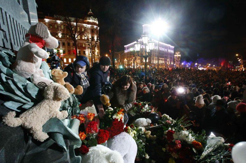 Акция памяти на Пушкинской площади в Москве.